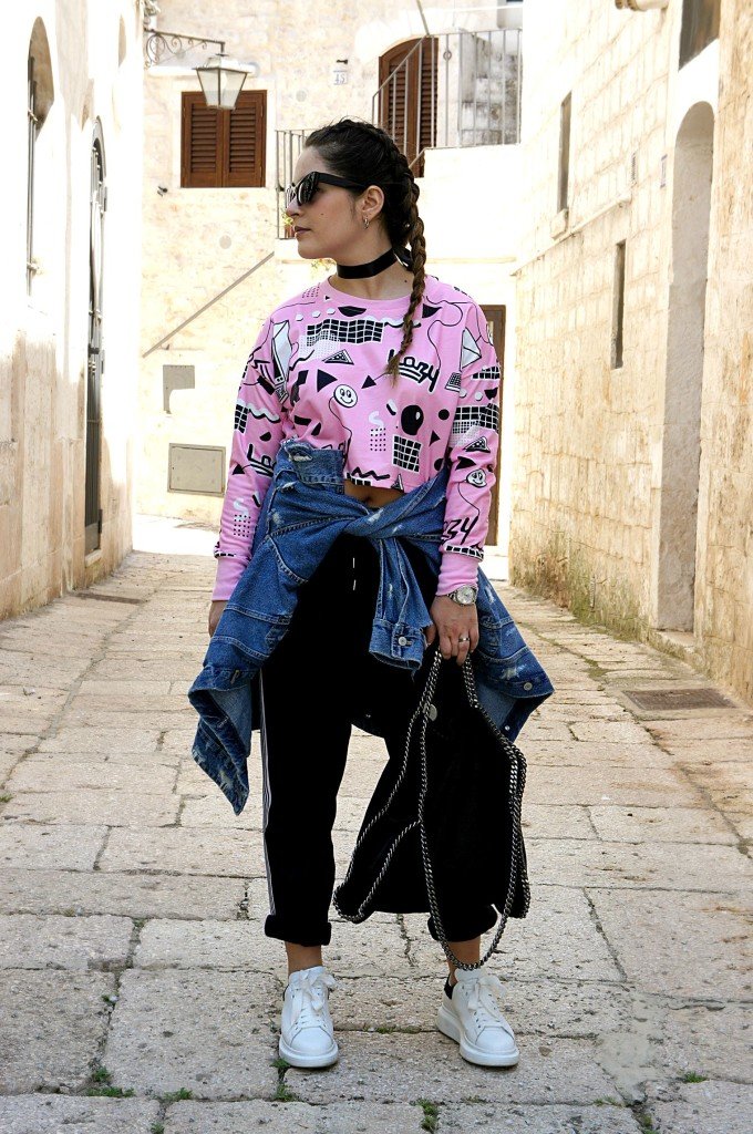giubbotto di jeans street style