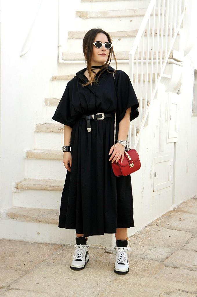 abito lungo nero
