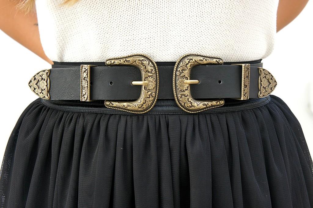 cinta doppia fibbia come indossarla