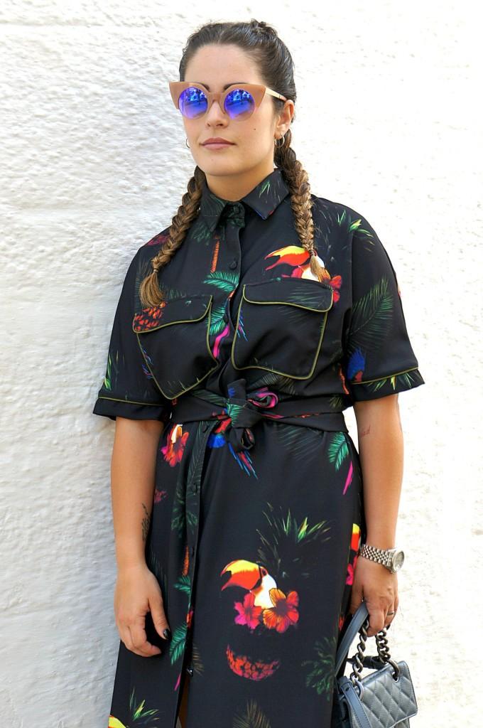kimono lungo a fantasia