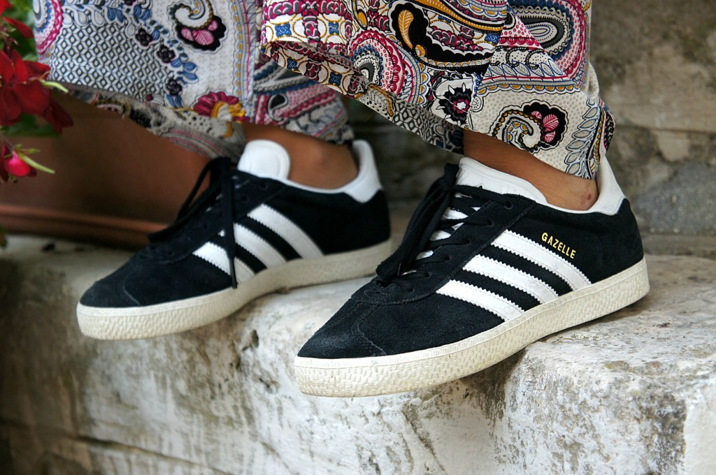 adidas gazelle platform nere