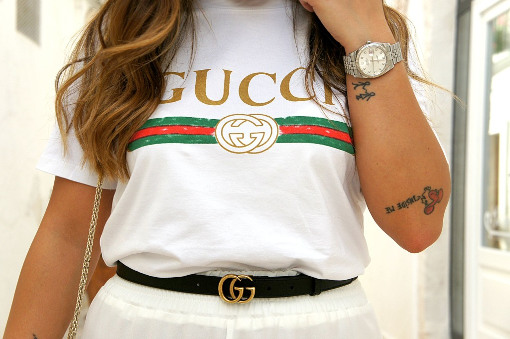 t-shirt gucci street style