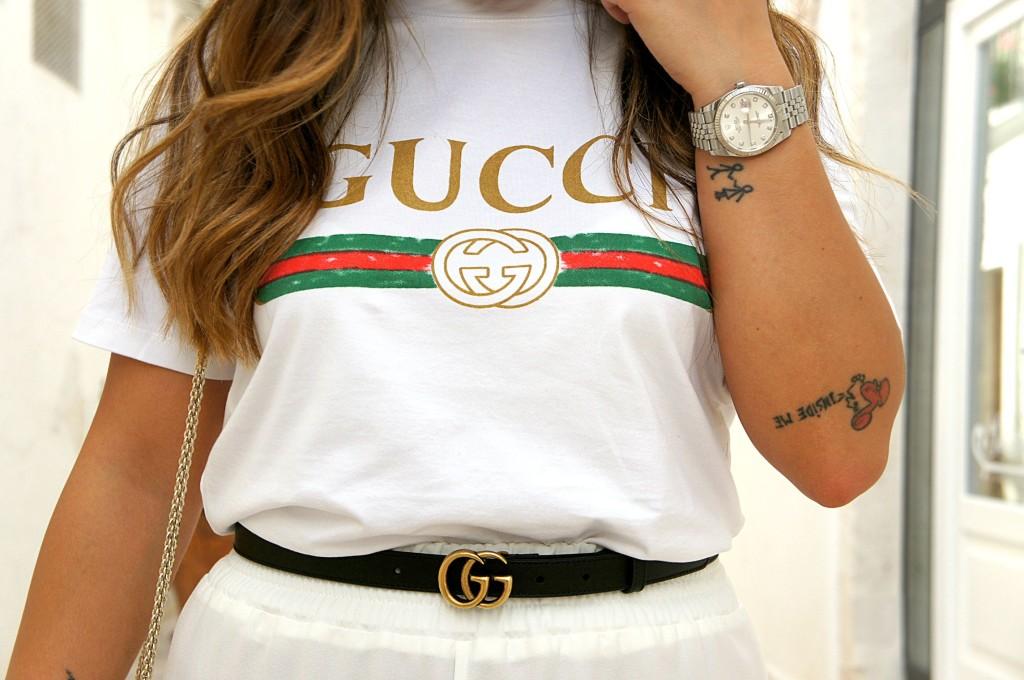 t-shirt gucci street style