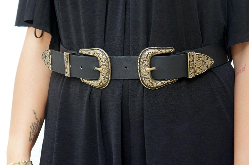cintura doppia fibbia in vita