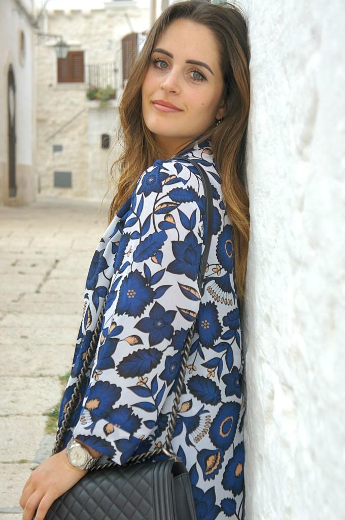 kimono fiorato